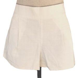 J crew ivory shorts size 2 XS linen